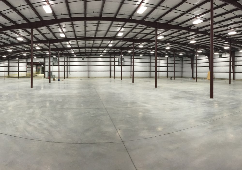 large concrete floor space